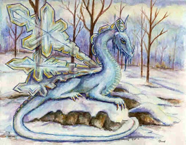 """Ice Dragon"" ""Crystal Dragon"" ""Winter Dragon"" ""Snow Dragon"""