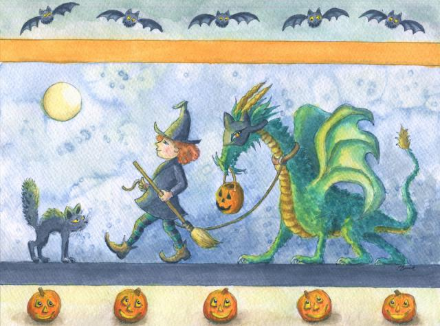 Halloween witch dragon Witch's Dragon Trick or Treat