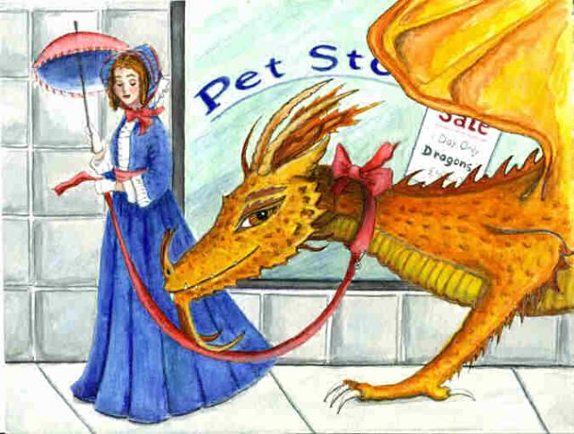 """Victorian Dragon"" ""Tame Dragon"" ""Dragon pet"""