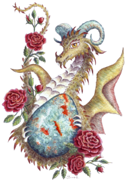 HBdragon Bloodstone Red Rose dragon
