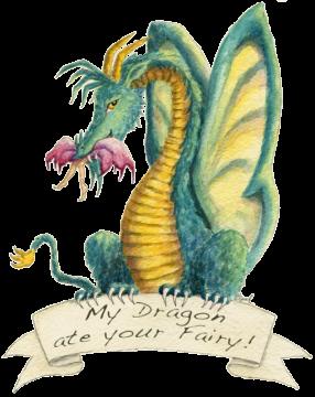 """Dragon art"" ""Fairy eating dragon"" ""Dragon eating fairy"" HBdragon Fairy dragon ""My dragon ate your fairy"""