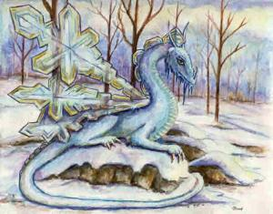 """Ice Dragon"" ""Crystal Dragon"" ""Winter Dragon"" ""Snow Dragon"""