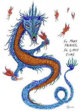 """""""Dragon art"""" """"Fairy eating dragon"""" fairies dragon """"So many fairies"""""""