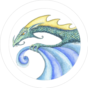 Wave riding surf Dragon HBdragon art