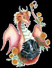 Black Onyx Marigold Dragon