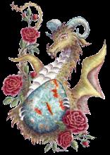 HBdragon Bloodstone Red Rose dragon