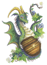 Tiger's eye and Ivy dragon - Capricorn (HBdragon)