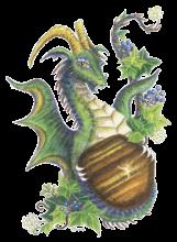 Tiger's eye and Ivy dragon - Capricorn (HBdragon)