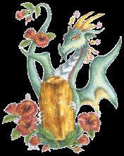 yellow topaz hibiscus dragon Scorpio