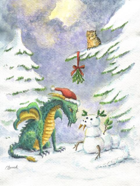Christmas Love Dragon